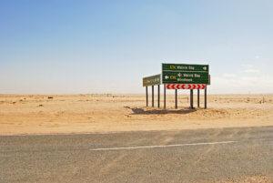Windhoek Namibia Road Sign
