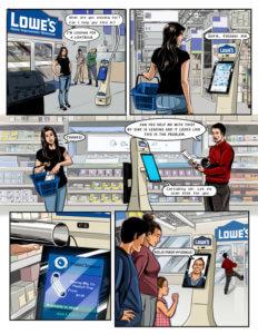 Vision of future using comic books